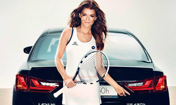 Agnieszka Radwańska w kampanii Lexus
