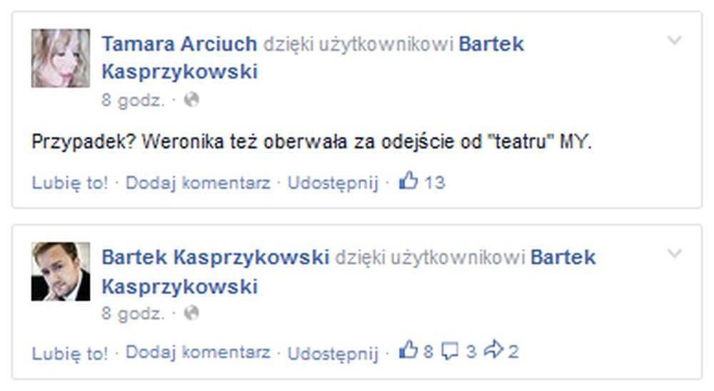 Tamara Arciuch i Barek Kasprzykowski