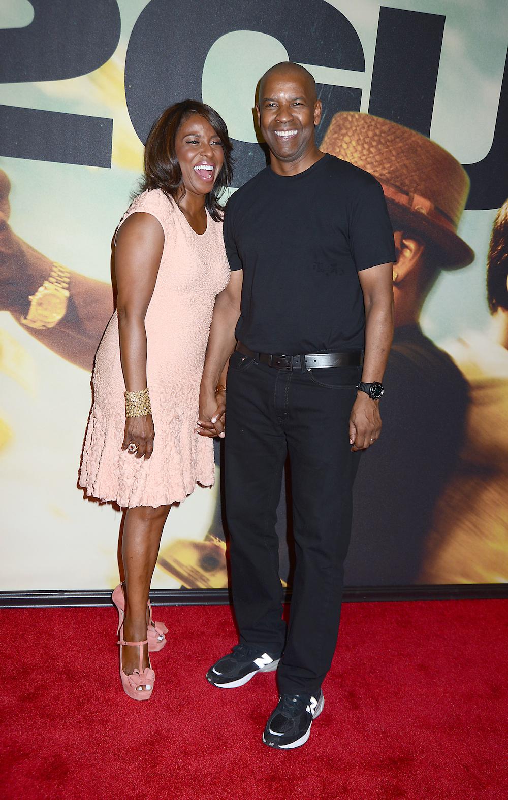 Denzel Washington z żoną Paulettą