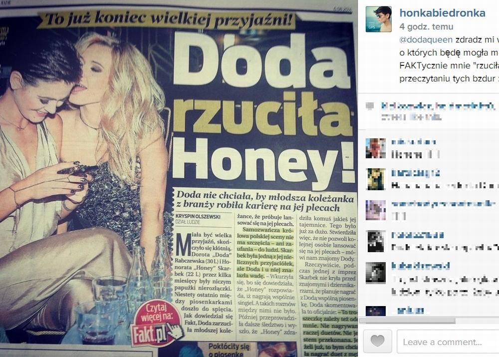 Honorata Skarbek, Doda, Honey
