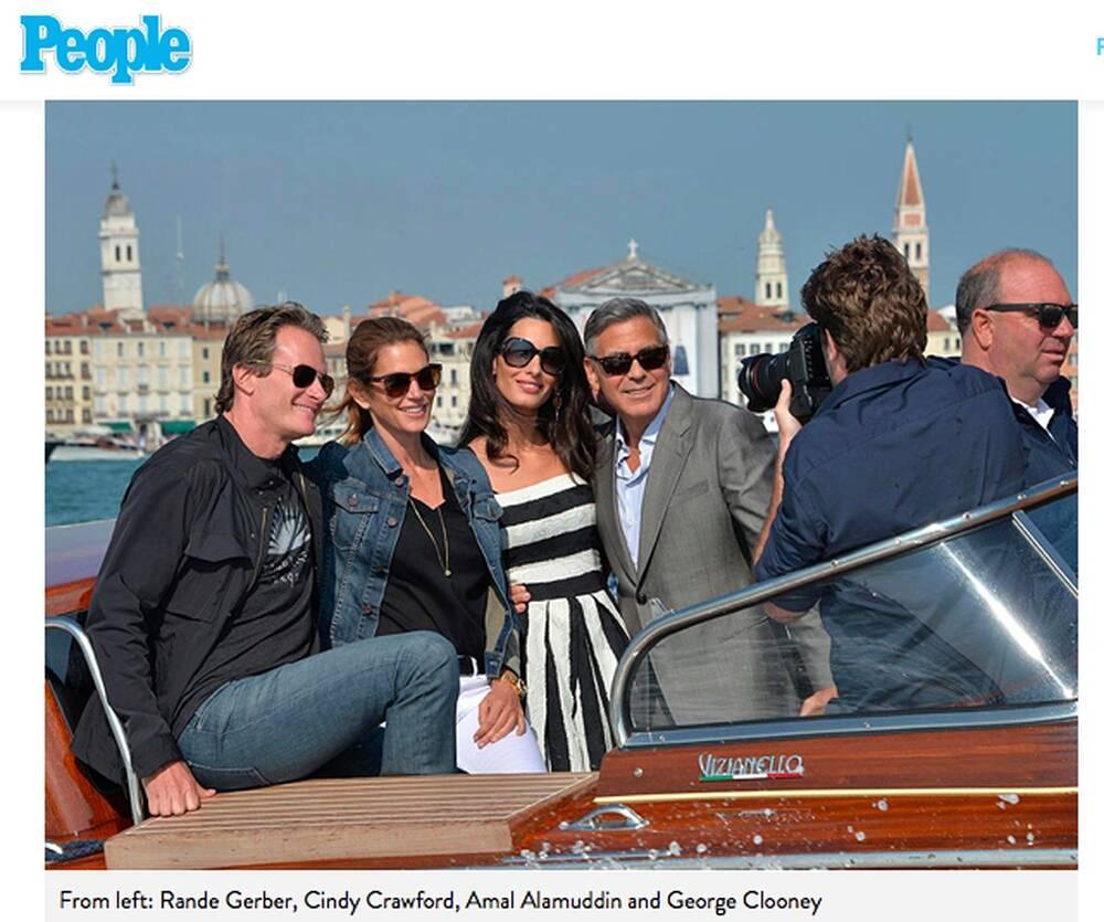 Rande Gerber, Cindy Crawford, Amal Alamuddin, George Clooney