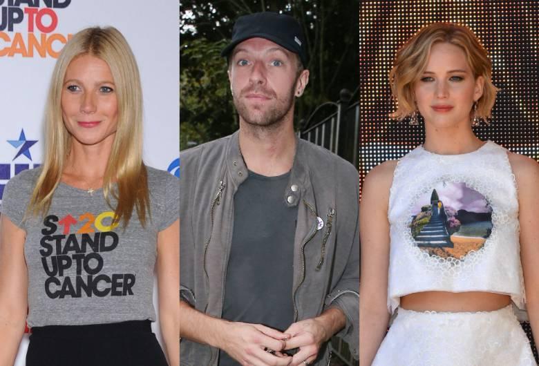 Gwyneth Paltrow, Chris Martin, Jennifer Lawrence