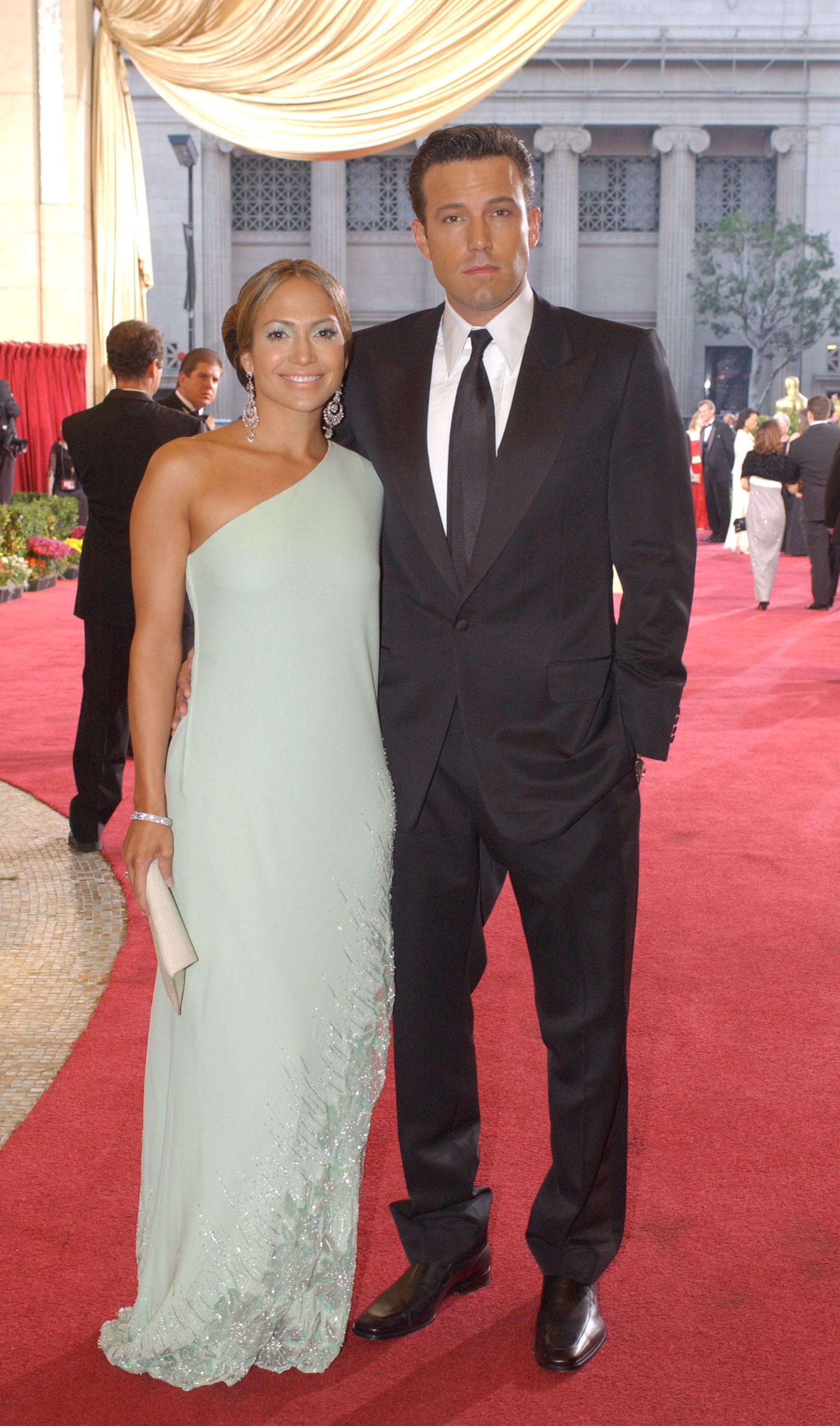 Jennifer Lopez i Ben Affleck - ceremonia wręczenia Oscarów 2003, foto: ONS