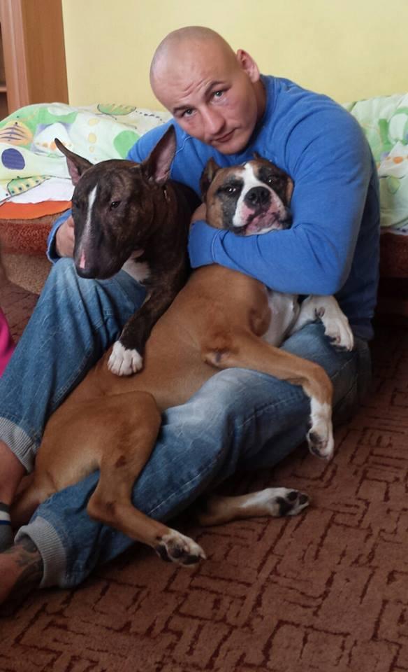Artur Szpilka z psami