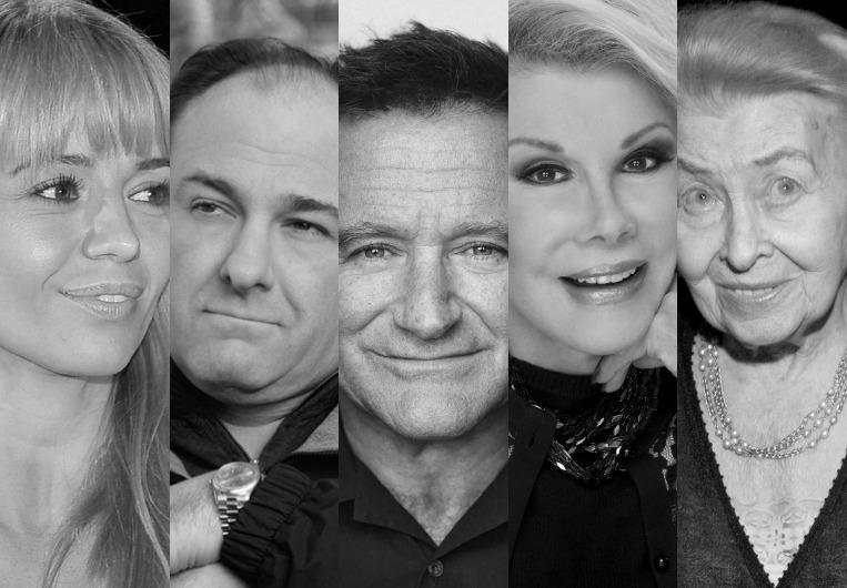 Anna Przybylska, James Gandolfini, Joan Rivers, Robin Williams, Nina Andrycz