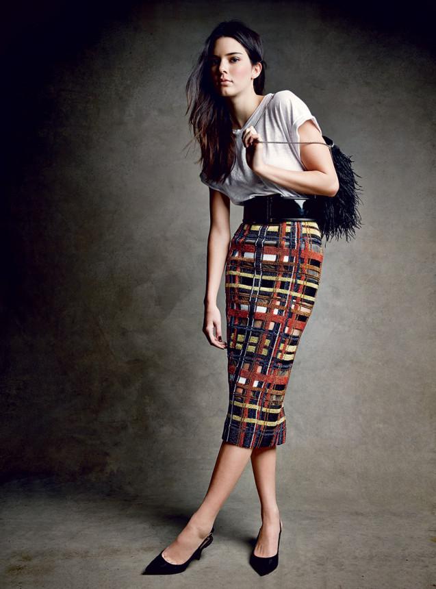 Kendall Jenner pierwszy raz w papierowym wydaniu amerykańskiego Vogue'a! - Kendall Jenner dla amerykańskiego Vogue'a