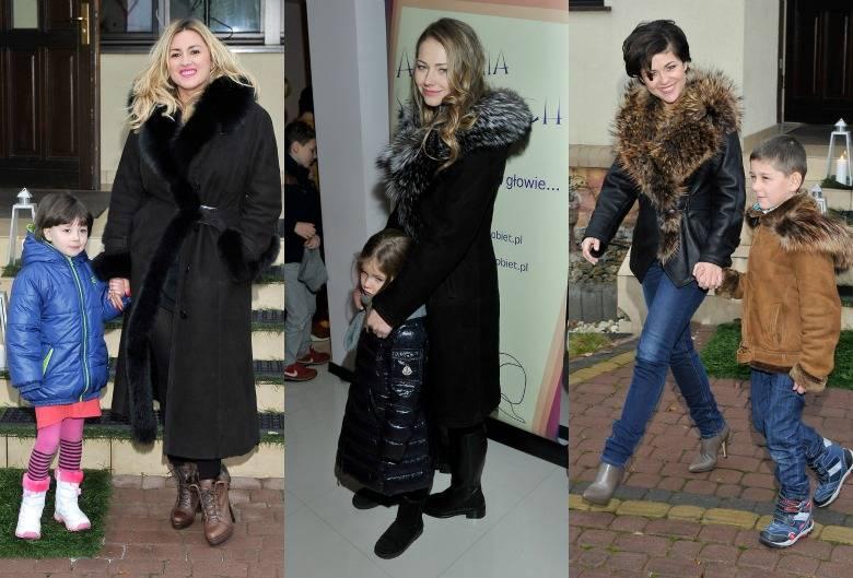 Gwiazdy na pokazie mody zimowej