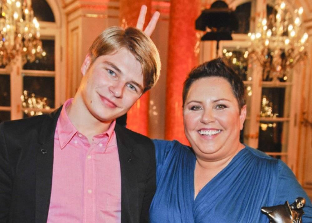 Dorota Wellman i jej syn Jakub