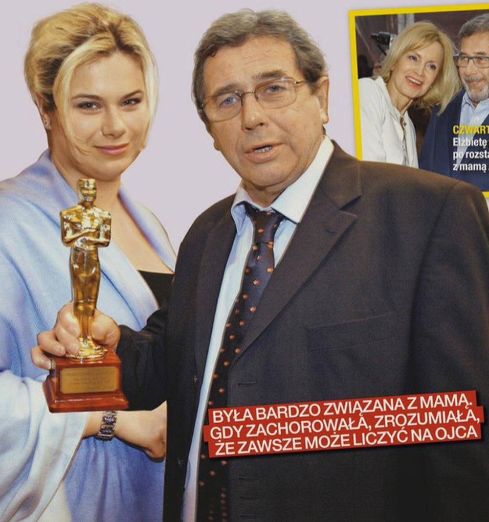 Janusz Gajos z córką Agatą