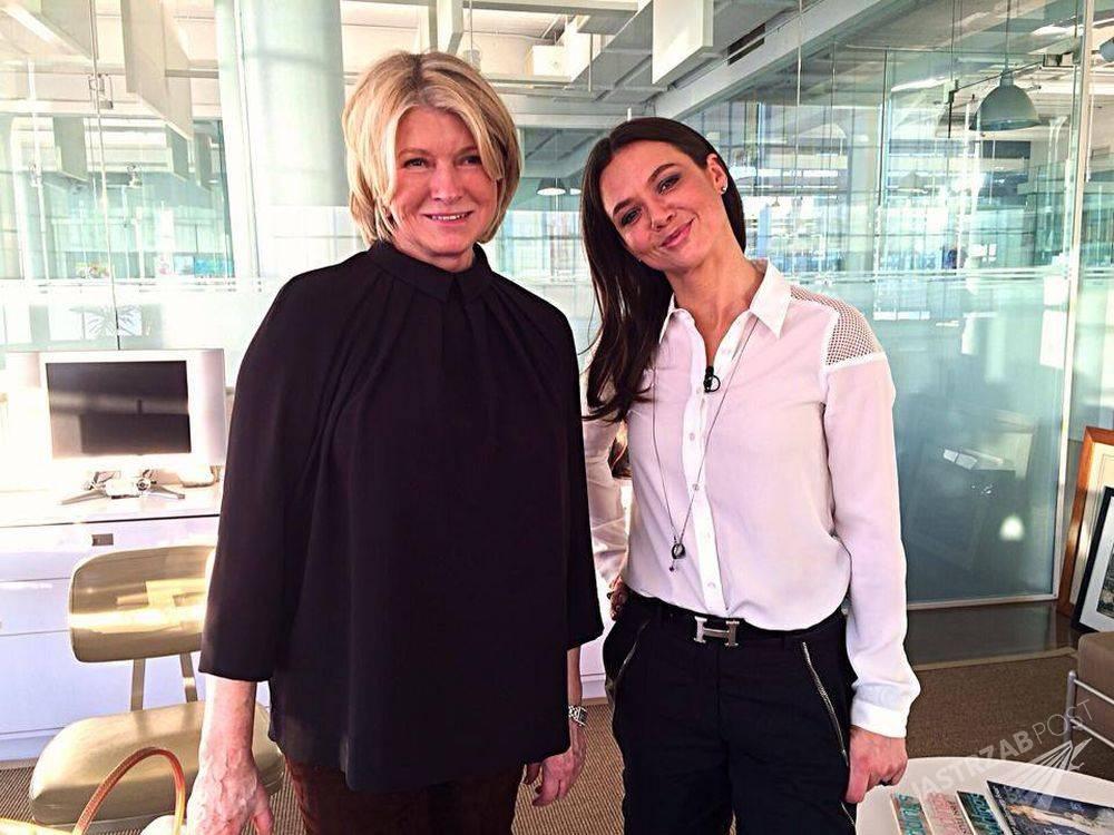Martha Stewart i Kinga Rusin