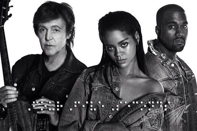 Rihanna, Kanye West, Paul McCartney