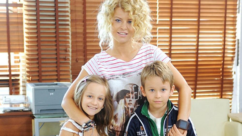 Marta Wiśniewska z dziećmi