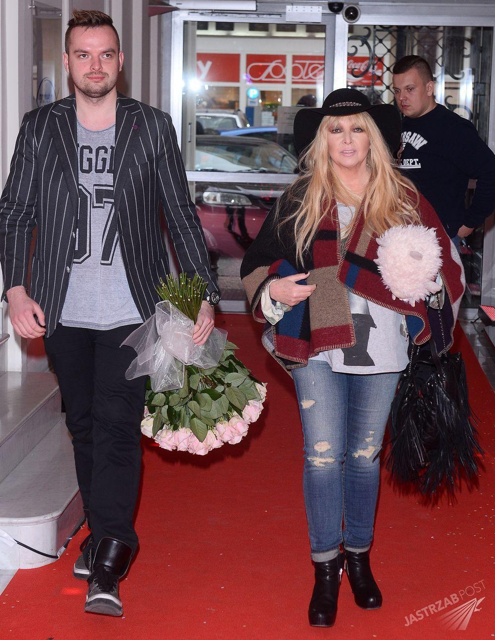 Maryla Rodowicz z synem