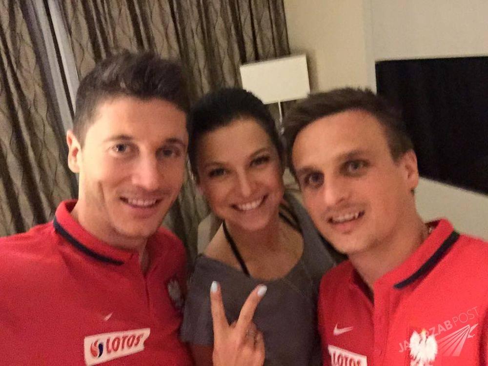 Robert Lewandowski, Anna Lewandowska i Sławomir Peszko Fot. screen z Facebook