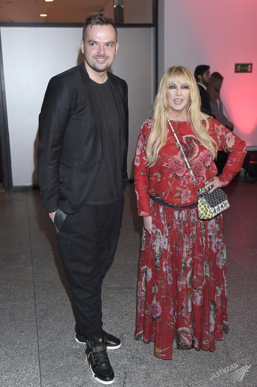 Maryla Rodowicz z synem Jędrzejem Dużyńskim