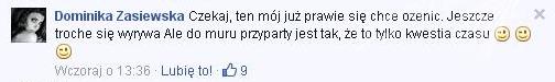 Ślub Dominiki Wodzianki Zasiewskiej