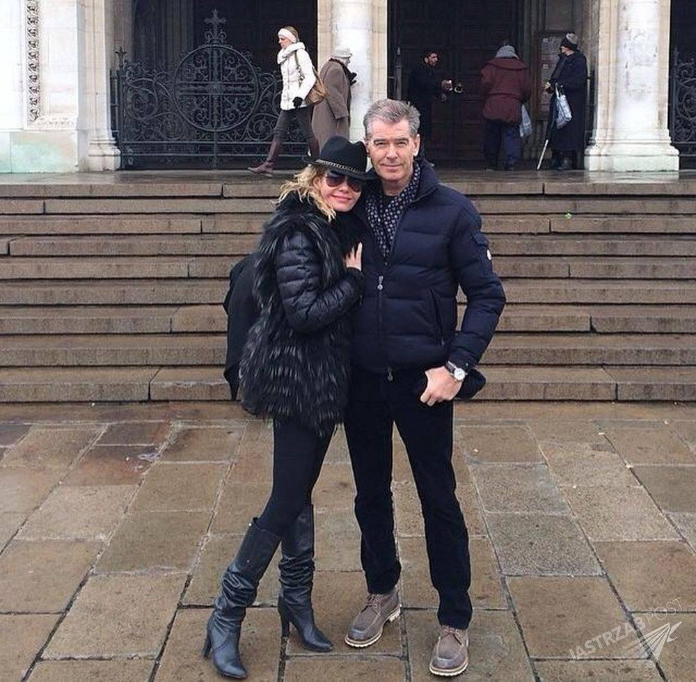 Kasia Wołejnio i Pierce Brosnan