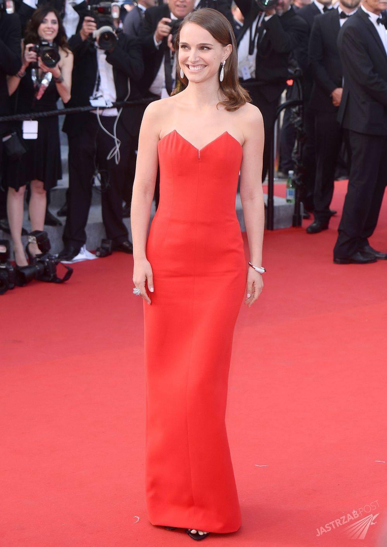 Natalie Portman w kreacji z domu mody Dior, Cannes 2015 Fot. ons