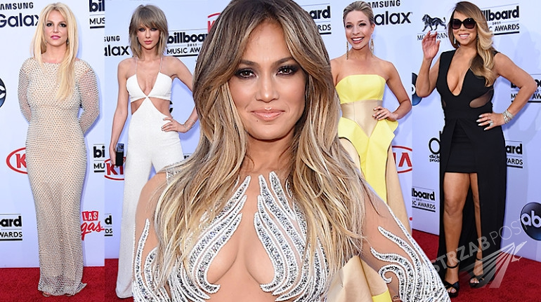 Billboard Music Awards 2015 - kreacje gwiazd - Jennifer Lopez, Britney Spears, Iggy Azalea, Mariah Carey