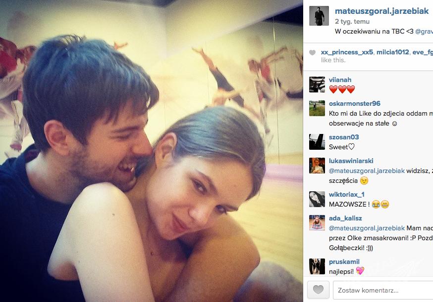 Mateusz Jarzębiak Góral i Olga Kaczyńska na Instagramie