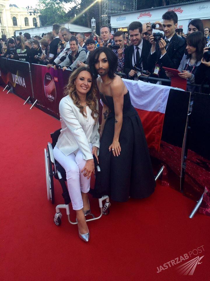 Monika Kuszyńska i Conchita Wurst na Eurowizji 2015