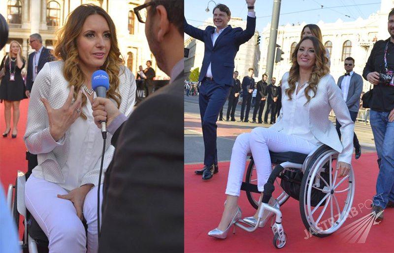 Monika Kuszyńska z mężem Jakubem Raczyńskim na czerwonym dywanie Eurowizji 2015