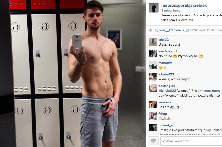 Selfie Górala z Top Model bez koszulki na Instagramie. Seksowny?