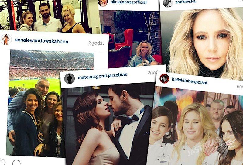 Polskie gwiazdy na Instagramie: Maja Sablewska w Grazia, Anna Lewandowska z rodziną, Alicja Janosz z synem Tymonem, Katarzyna Domańska wygrała Hell's Kitchen 3