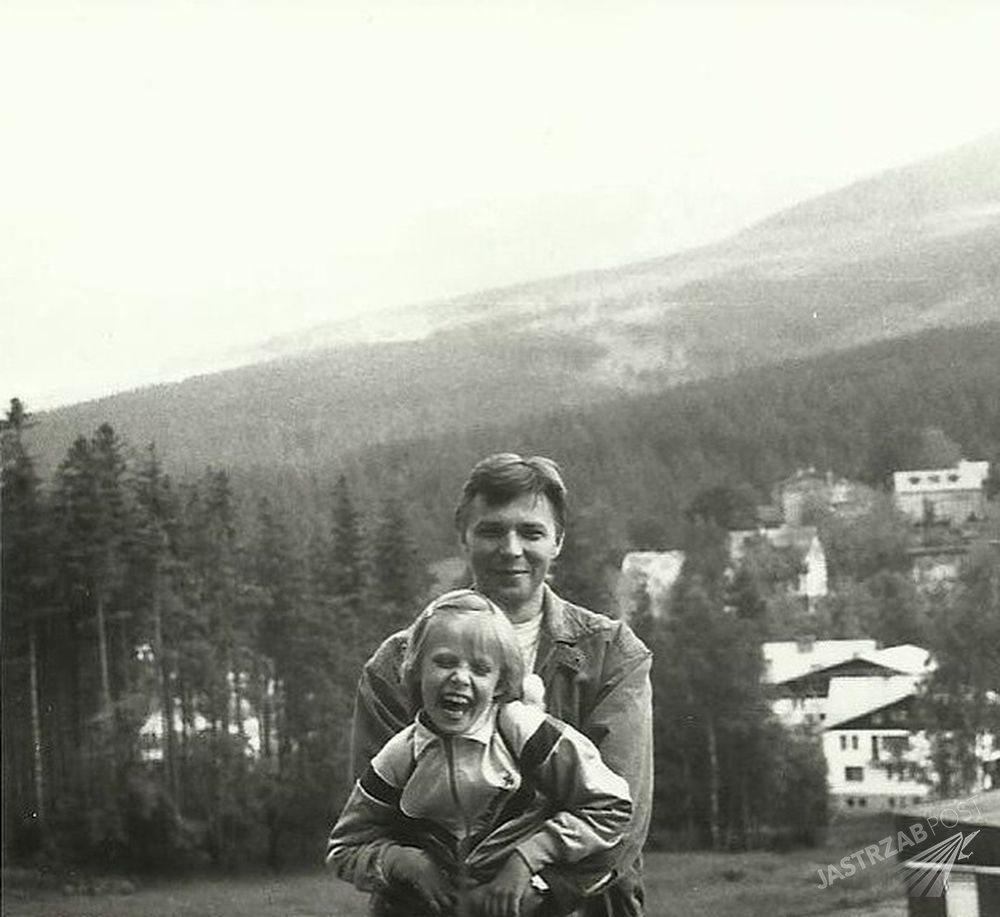 Maja Sablewska z ojcem