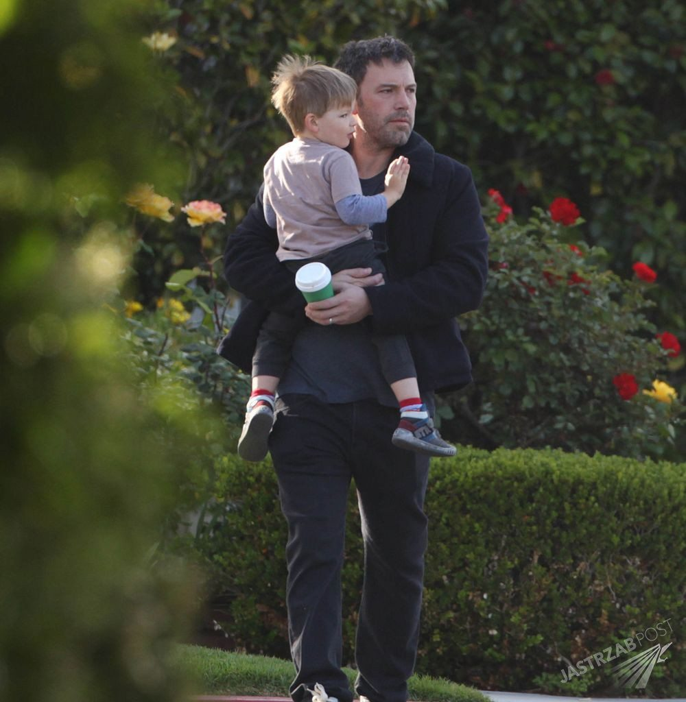 No US rights | Actor BEN AFFLECK and his son SAMUEL out for a father-son breakfast in Santa Monica.