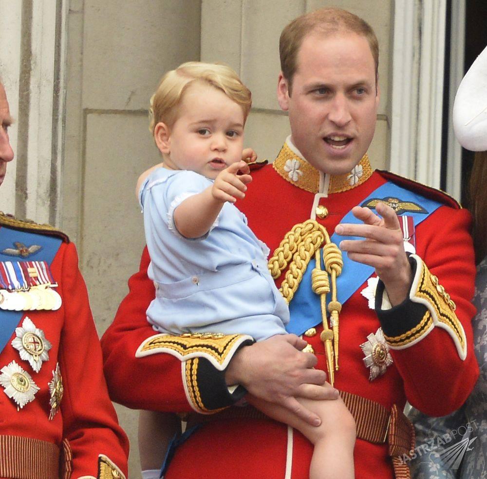 Książę William z małym Jerzym