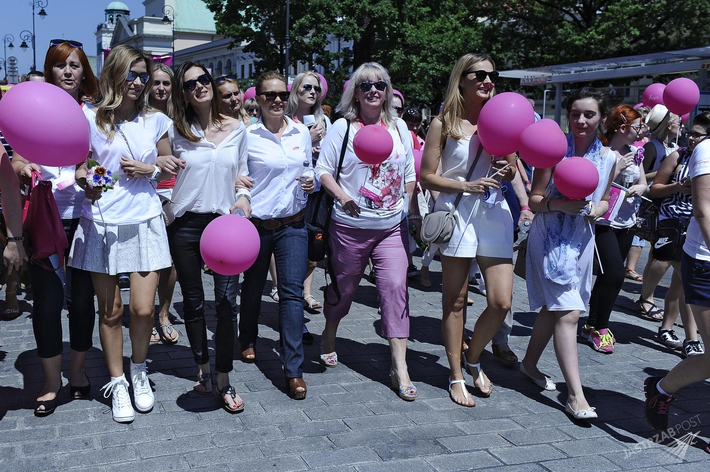 Marsz różowej wstążki AVON 2015
