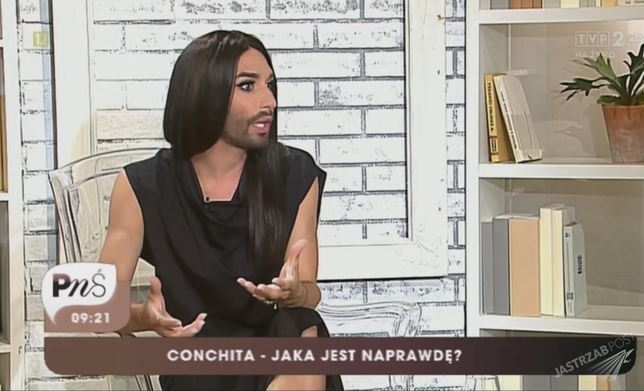 Conchita Wurst w Polsce udzieliła wywiadu Pytaniu na śniadanie
