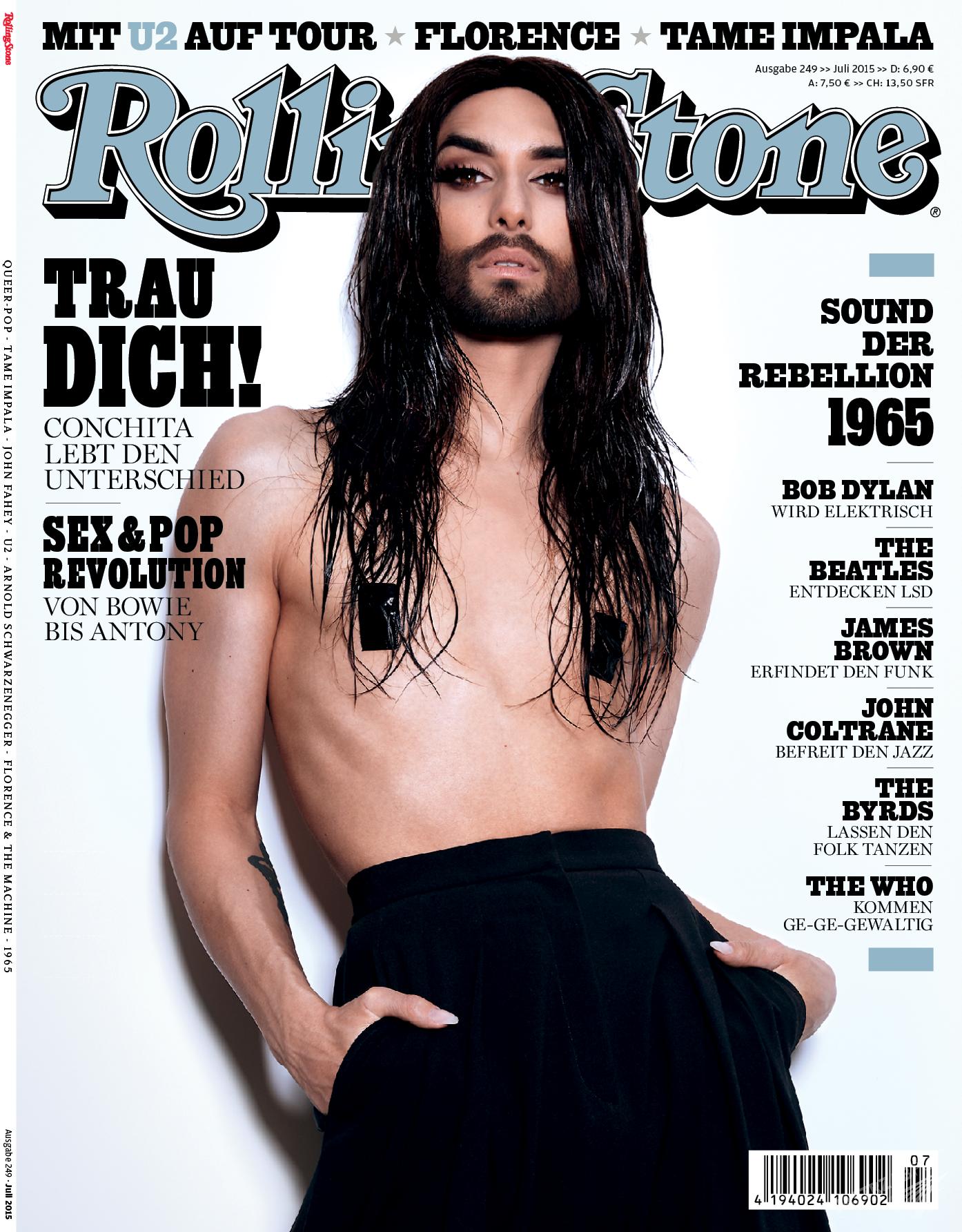 Conchita Wurst na okładce Rolling Stone edycja niemiecka