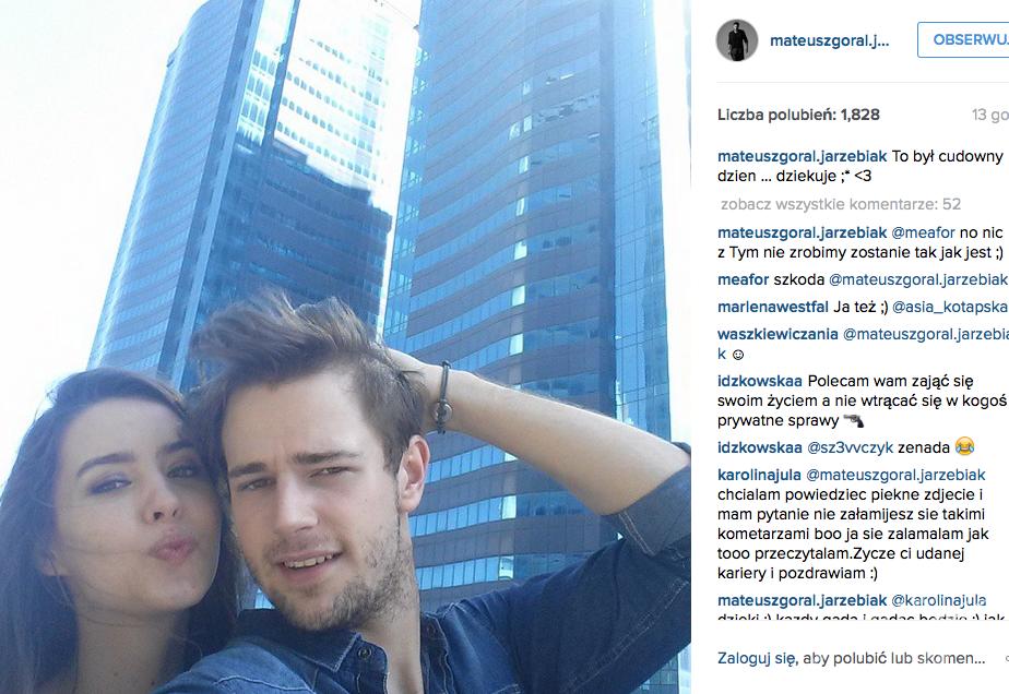 Mateusz Jarzębiak Góral i Aleksandra Wieczorek na Instagramie. Nowa dziewczyna Górala z Top Model?