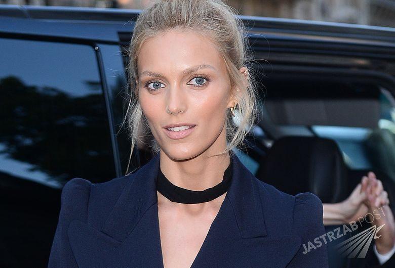 Anja Rubik w drodze na imprezę Vogue, fot. ONS