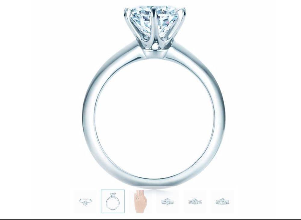 Pierścionek zaręczynowy Mariny Łuczenko od Tiffany&Co