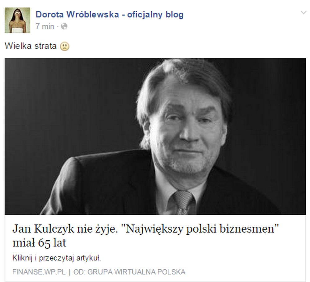 Jan Kulczyk nie żyje