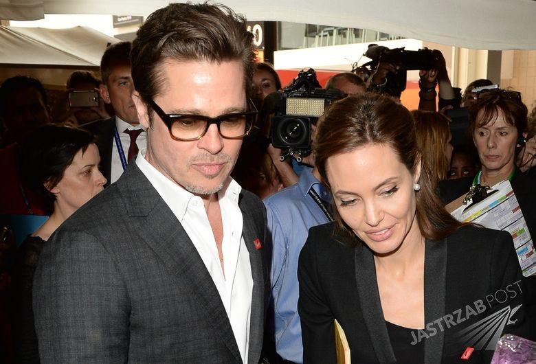 Angelina Jolie i Brad Pittw fastfoodzie, fot. ONS