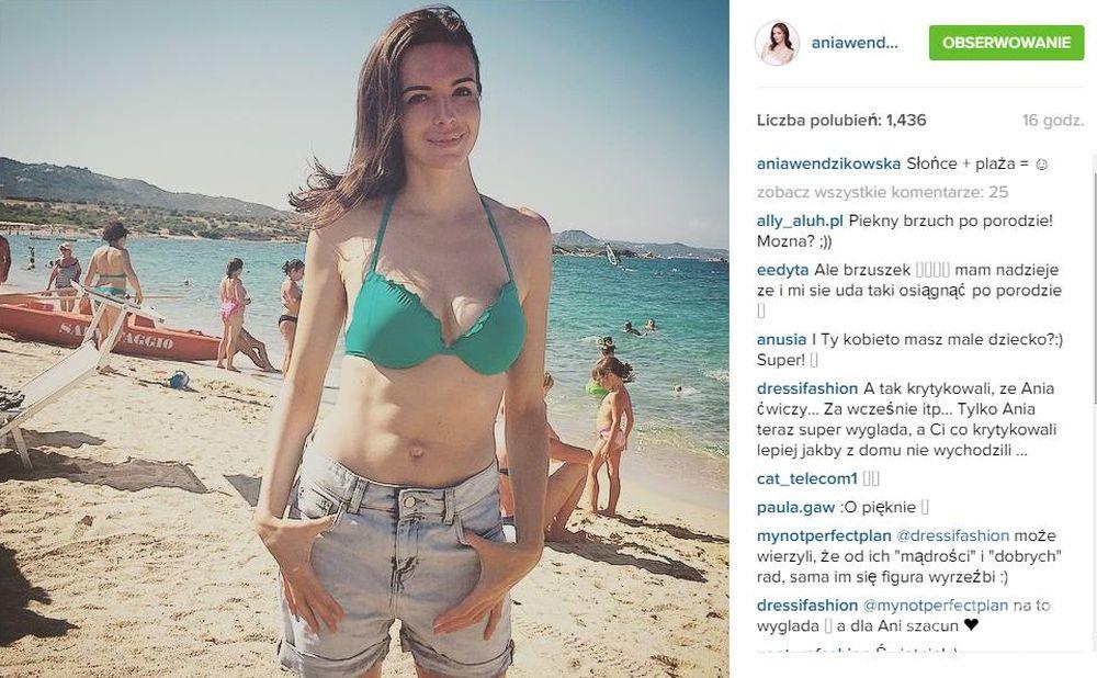 Anna Wendzikowska na wakacjach, fot. Instagram