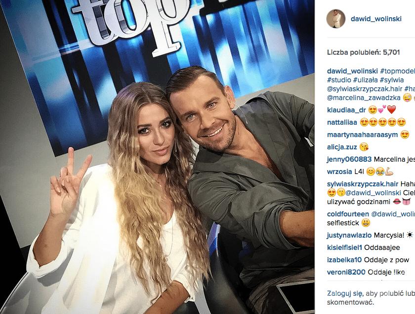 Dawid Woliński i Marcelina Zawadzka w Top Model 5