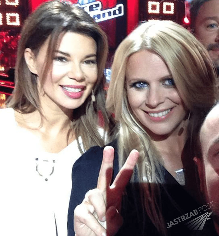 Edyta Górniak i Maria Sadowska na planie The Voice of Poland 6