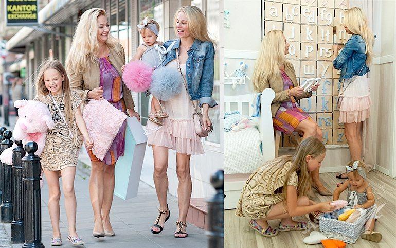 Magda Modra na zakupach z córkami Lea i Mia. Projektanta wnętrz Magdalena Miśkiewicz z Design For Kids