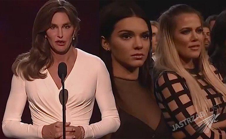 Cailtyn Jenner na gali ESPY przemówienie na YouTube Video. Kendall Jenner i Kim Kardashian w łzach