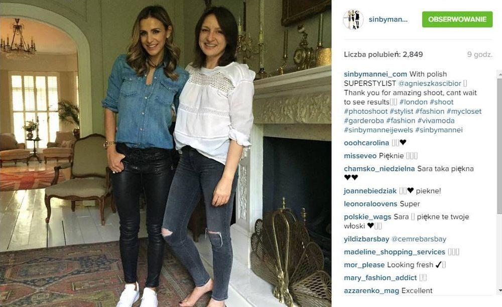 Sara Boruc w sesji Viva! Moda, fot. Instagram