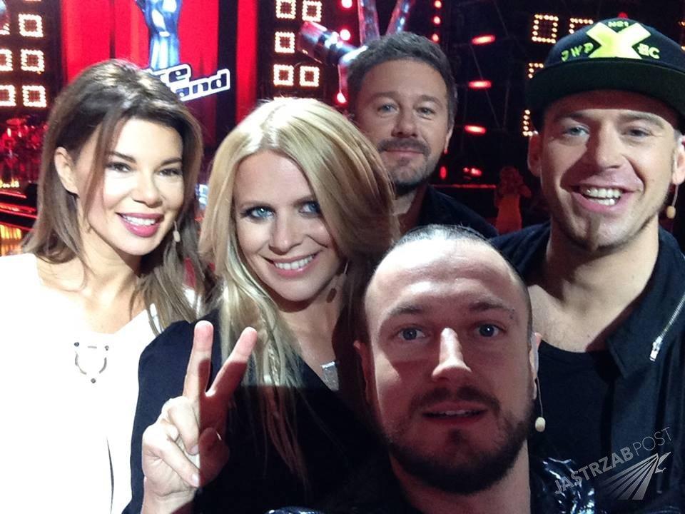 Selfie trenerów 6 edycji The Voice of Poland - Edyta Górniak, Maria Sadowska, Andrzej Piaseczny, Tomson i Baron