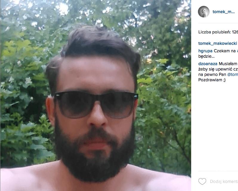 Tomek Makowiecki na Instagramie relacjonował proces powstawania nowej fryzury