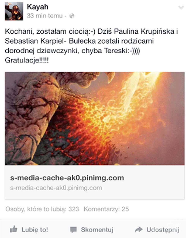 Paulina Krupińska urodziła