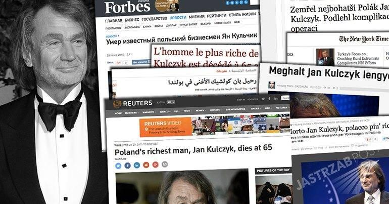 Zagraniczne media o śmierci Jana Kulczyka