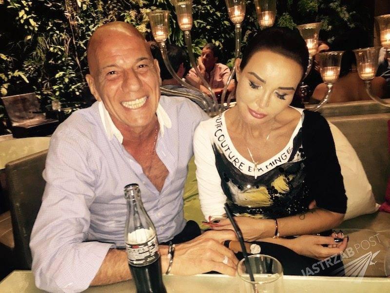 Zuri Mesica i Ewa Minge w Paryżu. Nowy partner Ewy Minge jest milionerem. Na zdjęciu: Ewa ma koszylke ręcznie malowana haute couture Eva Minge
